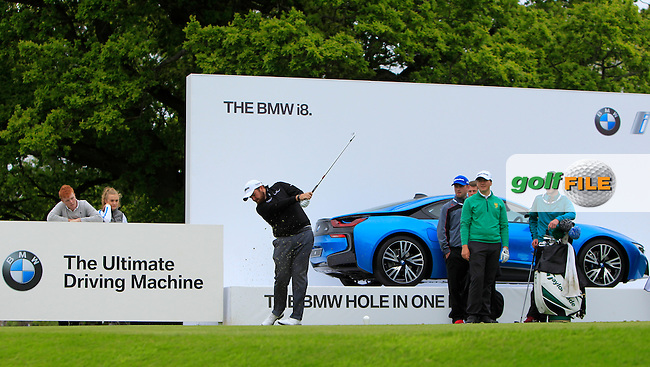 Shane Lowry (IRL) on the 12th tee during Tuesday's Practice round of the Dubai Duty Free Irish Open Trophy at The K Club, Straffan, Co. Kildare<br /> Picture: Golffile | Thos Caffrey<br /> <br /> All photo usage must carry mandatory copyright credit <br /> (&copy; Golffile | Thos Caffrey)