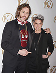 HOLLYWOOD, CA - JANUARY 28: Actor T.J. Miller (L) and guest arrive at the 28th Annual Producers Guild Awards at The Beverly Hilton Hotel on January 28, 2017 in Beverly Hills, California.