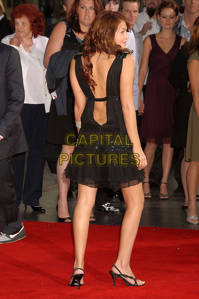 "SCOUT TAYLOR-COMPTON.""Halloween"" World Premiere at Grauman's Chinese Theatre, Hollywood, California, USA..August 23rd, 2007.full length black dress sheer plunging back behind rear.CAP/ADM/BP.©Byron Purvis/AdMedia/Capital Pictures"