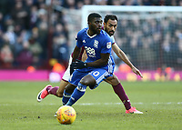 Jeremie Boga of Birmingham City wins the ball against Ahmed Elmohamady of Aston Villa<br /> <br /> Photographer Leila Coker/CameraSport<br /> <br /> The EFL Sky Bet Championship - Aston Villa v Birmingham City - Sunday 11th February 2018 - Villa Park - Birmingham<br /> <br /> World Copyright &copy; 2018 CameraSport. All rights reserved. 43 Linden Ave. Countesthorpe. Leicester. England. LE8 5PG - Tel: +44 (0) 116 277 4147 - admin@camerasport.com - www.camerasport.com