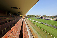 LONGCHAMP, FRANCE - October 06, 2018: View from the renovated Grandstand of the Longchamp race track, now officially called ParisLongchamp.