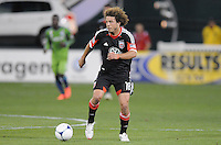 D.C. United midfielder Nick DeLeon (18) D.C. United tied the Seattle Sounders, 0-0 at RFK Stadium, Saturday April 7, 2012.