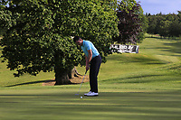Peter McKeever (Castle) putts to win on the 18th during Round 4 of the Connacht Stroke Play Championship 2019 at Portumna Golf Club, Portumna, Co. Galway, Ireland. 09/06/19<br /> <br /> Picture: Thos Caffrey / Golffile<br /> <br /> All photos usage must carry mandatory copyright credit (© Golffile | Thos Caffrey)