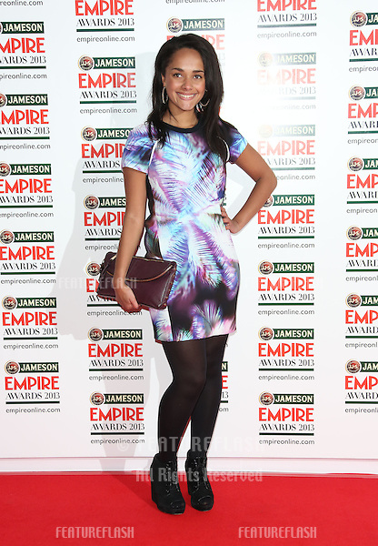 Karla Crome arrives for the Empire Film Awards 2013 at the Grosvenor House Hotel, London. 24/03/2013 Picture by: Henry Harris / Featureflash