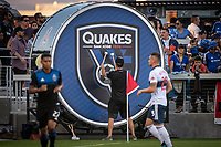 SAN JOSE, CA - AUGUST 24: San Jose Earthquakes Drum at Avaya Stadium during a game between Vancouver Whitecaps FC and San Jose Earthquakes at Avaya Stadium on August 24, 2019 in San Jose, California.
