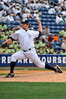 Staten Island Yankees pitcher Fred Lewis #22 during a game against the Tri-City  Valley Cats at Richmond County Bank Ballpark at St. George on July 25, 2011 in Staten Island, NY.  Staten Island defeated Tri-City 2-1.  Tomasso DeRosa/Four Seam Images