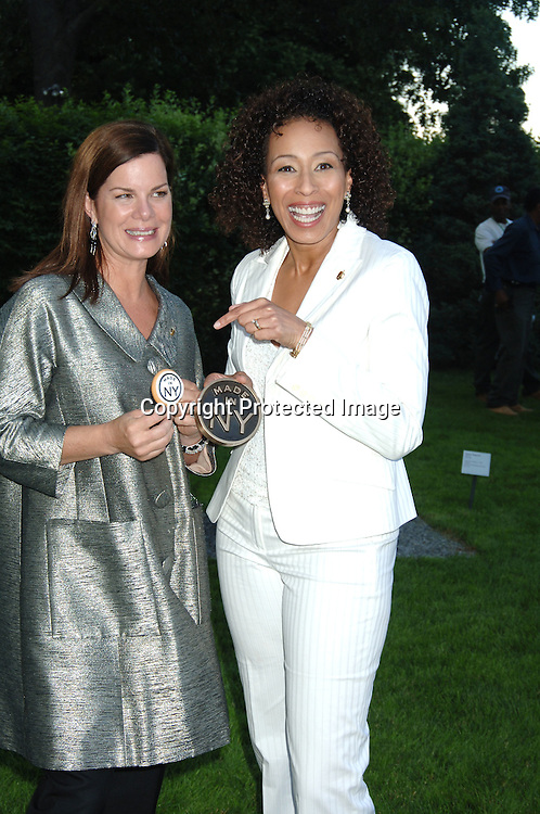 "Award Winners Marcia Gay Harden and Tamara Tunie..at The ""Made In New York"" Awards for Outstanding Achievement in the Entertainment Industry at Gracie Mansion on June 5, 2006...Robin Platzer, Twin Images"