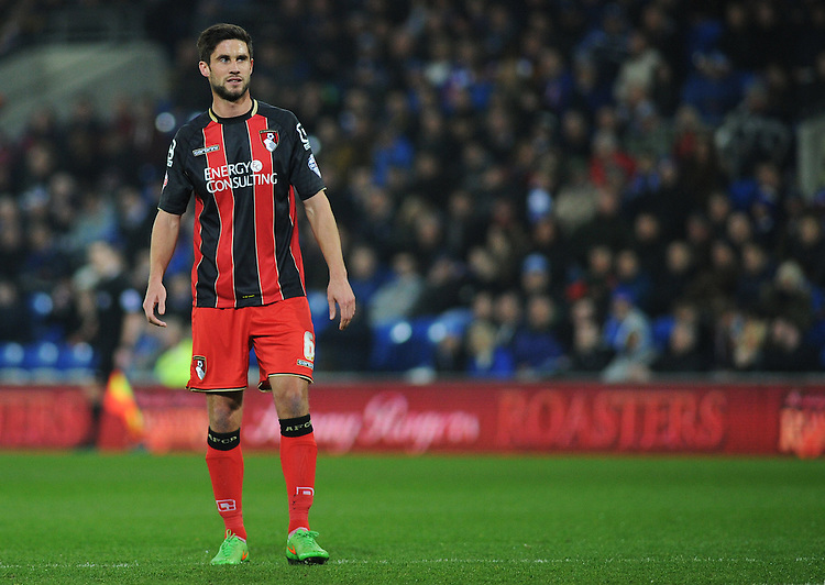Bournemouth's Andrew Surman in action during todays match  <br /> <br /> Photographer Kevin Barnes/CameraSport<br /> <br /> Football - The Football League Sky Bet Championship - Cardiff v Bournemouth - Tuesday 17th March 2015 - Cardiff City Stadium - Cardiff<br /> <br /> &copy; CameraSport - 43 Linden Ave. Countesthorpe. Leicester. England. LE8 5PG - Tel: +44 (0) 116 277 4147 - admin@camerasport.com - www.camerasport.com