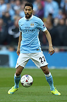 Gael Clichy of Manchester City during the Capital One Cup match between Liverpool and Manchester City at Wembley Stadium, London, England on 28 February 2016. Photo by David Horn / PRiME Media Images.