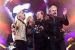 © Joel Goodman - 07973 332324. 06/08/2017 . Macclesfield , UK . GLEN MATLOCK ,  CLAUDIA BRUCKEN, PETER HOOTON, JAKI GRAHAM and OWEN PAUL of the British Electric Foundation perform at The Rewind Festival , celebrating 1980s music and culture , at Capesthorne Hall in Siddington . Photo credit : Joel Goodman
