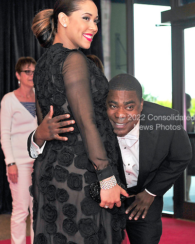 Tracy Morgan and Megan Wollover arrive for the 2013 White House Correspondents Association Annual Dinner at the Washington Hilton Hotel on Saturday, April 27, 2013..Credit: Ron Sachs / CNP.(RESTRICTION: NO New York or New Jersey Newspapers or newspapers within a 75 mile radius of New York City)