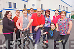 RIDE ON: Staff and volunteers with the Family Resource Centre in Listowel which is looking for cyclists to take part in the Ring of Kerry Cycle in July, l-r: Anna Boyd, Jo Lambe, Eileen Brosnan, Brendan Roantree, Johnny Joy, Claire Stack, Jacqui Harteveld, Jackie Landers, Patricia Lyons.