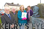 Pictured at the launch of the Ballydonoghue parish magazine on Friday Mick Finnucane, Marian O'Connor, Jim Finnerty and Noelle Hagerty.