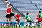 Colin McGillycuddy Glenbeigh Glencar in action against Diarmuid Carroll Rock Saint Patricks in the Junior Football All Ireland Final in Croke Park on Sunday.