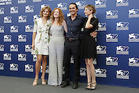 From left, Lidiya Liberman, Federica Fracassi, Pier Giorgio Bellocchio and Alba Rohrwacher attend a photocall for the movie 'Blood Of My Blood' during the 72nd Venice Film Festival at the Palazzo Del Cinema in Venice, Italy, September 8, 2015.<br /> UPDATE IMAGES PRESS/Stephen Richie