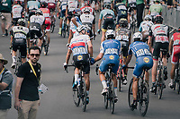 Zdenek Stybar (CZE/Quick-Step Floors), Matteo Trentin (ITA/Quick-Step Floors) &amp; Philippe Gilbert (BEL/Quick Step floors) rolling out behind the peloton hearing teammate Marcel Kittel won the stage<br /> <br /> 104th Tour de France 2017<br /> Stage 7 - Troyes &rsaquo; Nuits-Saint-Georges (214km)