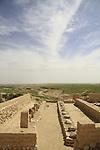 Israel, Negev desert, Tel Beer Sheba, the storehouses at the Biblical city of Beer Sheba, UNESCO World Heritage Site