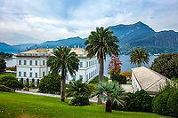 Italy, Lombardia, Bellagio: villa Melzi with park | Italien, Lombardei, Bellagio: Villa Melzi mit Park direkt am Comer See