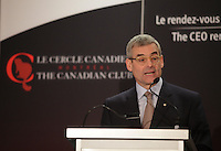 January 20,2014 -  Pierre Boivin, O.C., President &amp; CEO of Claridge Inc.deliver a speech to the Canadian Club of Montreal.<br /> <br /> Photo (c) COPYRIGHT 2014, Pierre Roussel - Images Distribution