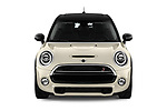 Car photography straight front view of a 2019 MINI Hardtop-4-Door Cooper-S 5 Door Hatchback Front View