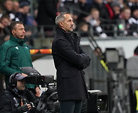 Trainer Adi Hütter (Eintracht Frankfurt) - 20.02.2020: Eintracht Frankfurt vs. RB Salzburg, UEFA Europa League, Hinspiel Round of 32, Commerzbank Arena DISCLAIMER: DFL regulations prohibit any use of photographs as image sequences and/or quasi-video.