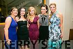 Enjoying the I.T Macra NAGS Ball at Ballyroe Hotel on Thursday were Maria O'Carroll, Sarah O'Carroll, Niamh O'Sullivan, Thomasena Stout, Rachel Pattern