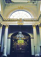 Nicholas Hawksmoor: St. Mary Woolnoth, London 1716-27. Interior doors and detail.