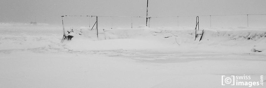 Frozen Lac de Joux during the 2011-2012 winter