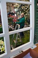 Europe/France/06/Alpes-Maritimes/Nice: Préparation du Carnaval, les fleuristes décorent les chars