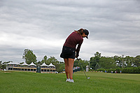 Annie Park (USA) hits her second shot from the rough on the 18th hole during the final round during the ShopRite LPGA Classic presented by Acer, Seaview Bay Club, Galloway, New Jersey, USA. 6/10/18.<br /> Picture: Golffile   Brian Spurlock<br /> <br /> <br /> All photo usage must carry mandatory copyright credit (&copy; Golffile   Brian Spurlock)