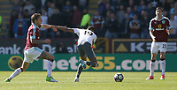 Manchester United's Marcus Rashford held back by Burnley's Jeff Hendrick<br /> <br /> Photographer Stephen White/CameraSport<br /> <br /> The Premier League - Burnley v Manchester United - Sunday 23rd April 2017 - Turf Moor - Burnley<br /> <br /> World Copyright &copy; 2017 CameraSport. All rights reserved. 43 Linden Ave. Countesthorpe. Leicester. England. LE8 5PG - Tel: +44 (0) 116 277 4147 - admin@camerasport.com - www.camerasport.com