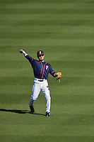 Cal State Fullerton Titans outfielder Josh Vargas (40) during a game against the Alabama State Hornets on February 14, 2015 at Bright House Field in Clearwater, Florida.  Alabama State defeated Cal State Fullerton 3-2.  (Mike Janes/Four Seam Images)