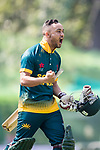 Aubrey Swanepoel of South Africa celebrates during Day 2 of Hong Kong Cricket World Sixes 2017  match between South Africa vs Sri Lanka at Kowloon Cricket Club on 29 October 2017, in Hong Kong, China. Photo by Yu Chun Christopher Wong / Power Sport Images