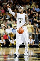 January 5, 2011: Central Florida guard Marcus Jordan (5) signals directions during first half Conference USA NCAA basketball game action between the Marshall Thundering Herd and the Central Florida Knights at the UCF Arena Orlando, Fl..