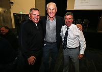 Ian Kirkpatrick and Graham Hart. . Prematch. Kings College 1st XV v Sacred Heart College, Sacred Heart, Auckland, Saturday 26  May 2018. Photo: Simon Watts/www.bwmedia.co.nz