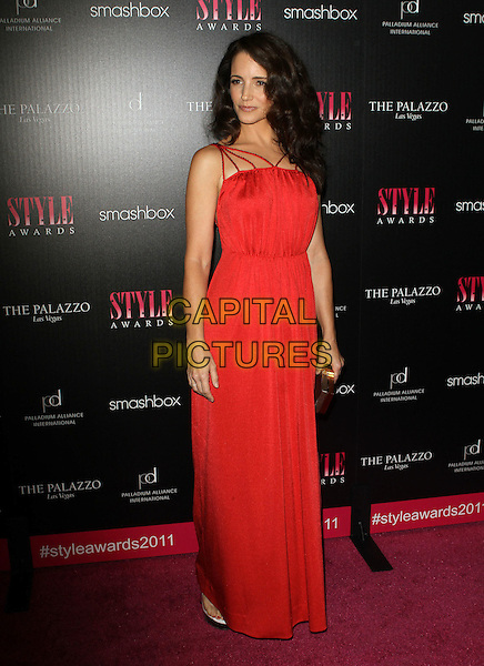 Kristin Davis.2011 Hollywood Style Awards Sponsored By Smashbox, The Palazzo Las Vegas And Palladium Jewelry.Held At Smashbox Studios, West Hollywood, California, USA..November 13th, 2011.full length red dress.CAP/ADM/KB.©Kevan Brooks/AdMedia/Capital Pictures.