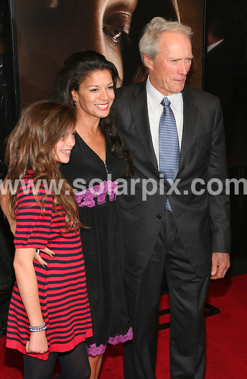 **ALL ROUND PICTURES FROM SOLARPIX.COM**.**SYNDICATION RIGHTS FOR UK, SPAIN, PORTUGAL, AUSTRALIA, S.AFRICA & DUBAI (U.A.E) ONLY**.The 46th New York Film Festival the Changeling film Premiere at the Ziegfeld Theatre at 141 West 54th Street in New York City in the USA..This pic:Clint Eastwood and wife Dina Eastwood ..JOB REF:7522- PHZ/Sylvain Gaboury   DATE:04_09_08 .**MUST CREDIT SOLARPIX.COM OR DOUBLE FEE WILL BE CHARGED* *UNDER NO CIRCUMSTANCES IS THIS IMAGE TO BE REPRODUCED FOR ANY ONLINE EDITION WITHOUT PRIOR PERMISSION*