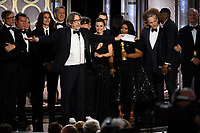 Accepting the Golden Globe for BEST MOTION PICTURE &ndash; COMEDY OR MUSICAL for &quot;Green Book&quot; is Peter Farrelly and fellow producers at the 76th Annual Golden Globe Awards at the Beverly Hilton in Beverly Hills, CA on Sunday, January 6, 2019.<br /> *Editorial Use Only*<br /> CAP/PLF/HFPA<br /> Image supplied by Capital Pictures