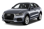 2018 Audi Q3 Premium 5 Door SUV angular front stock photos of front three quarter view