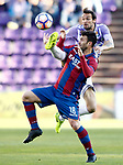 Real Valladolid's Andre Leao (b) and Levante UD's Victor Casadesus during La Liga Second Division match. March 11,2017. (ALTERPHOTOS/Acero)