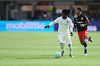 WASHINTON, DC - FEBRUARY 29: Washington, D.C. - February 29, 2020: Lalas Abubakar #6 of the Colorado Rapids moves the ball during a game between D.C. United and the Colorado Rapids. The Colorado Rapids defeated D.C. United 2-1 during their Major League Soccer (MLS)  match at Audi Field during a game between Colorado Rapids and D.C. United at Audi FIeld on February 29, 2020 in Washinton, DC.