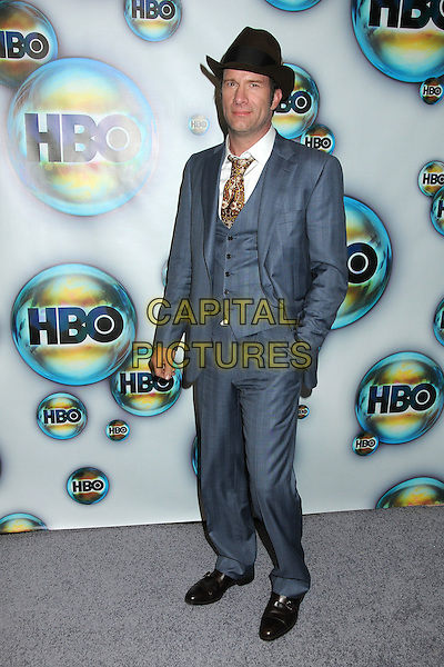 Thomas Jane.HBO 2012 Golden Globe Awards Post Party held at Circa 55 Restaurant, Beverly Hills, California, USA..January 15th, 2012.globes full length grey gray suit waistcoat brown hat hand in pocket.CAP/ADM/BP.©Byron Purvis/AdMedia/Capital Pictures.
