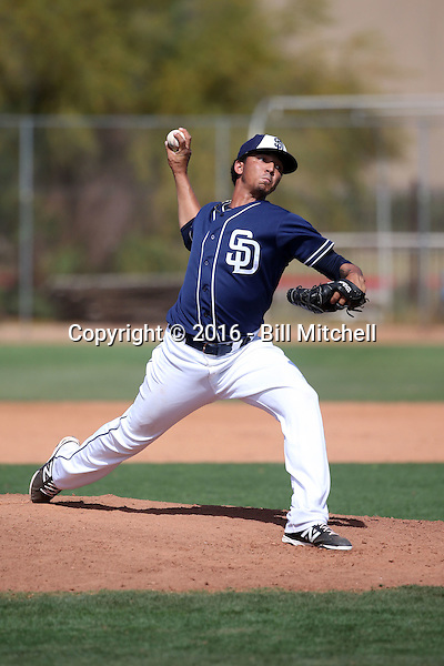 Angel Mejia - San Diego Padres 2016 spring training (Bill Mitchell)