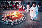 Larry Angier-Blessing of the New Fire..Mission San Antonio de Padua Portfolio.Photographed April 2011 and published September 2011...