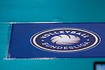 Logo Volleyball Bundesliga beim Spiel, Allianz MTV Stuttgart - Dresdner SC.<br /> <br /> Foto &copy; PIX-Sportfotos *** Foto ist honorarpflichtig! *** Auf Anfrage in hoeherer Qualitaet/Aufloesung. Belegexemplar erbeten. Veroeffentlichung ausschliesslich fuer journalistisch-publizistische Zwecke. For editorial use only.
