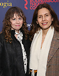 """Sally Murphy and Jessica Hecht attend the Broadway Opening Night Celebration for the Roundabout Theatre Company production of """"Apologia"""" on October 16, 2018 at the Laura Pels Theatre in New York City."""