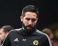 1st January 2020; Vicarage Road, Watford, Hertfordshire, England; English Premier League Football, Watford versus Wolverhampton Wanderers; Joao Moutinho of Wolverhampton Wanderers warms up - Strictly Editorial Use Only. No use with unauthorized audio, video, data, fixture lists, club/league logos or 'live' services. Online in-match use limited to 120 images, no video emulation. No use in betting, games or single club/league/player publications
