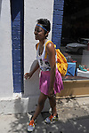 Letesha Brady, 19, a ballet teacher, assistant and fashion designer on North Milwaukee Avenue in Wicker Park in Chicago, Illinois on June 20, 2009.