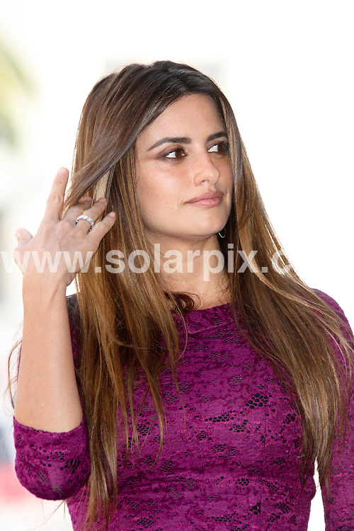 **ALL ROUND PICTURES FROM SOLARPIX.COM**                                             **SYNDICATION RIGHTS FOR UK, AUSTRALIA, DENMARK, PORTUGAL, S. AFRICA, SPAIN & DUBAI (U.A.E) & ASIA (EXCLUDING JAPAN) ONLY**                                                                                  Caption:  Spanish actress Penelope Cruz Honored with a Star on the Hollywood Walk of Fame on April 1, 2011 - Hollywood Walk of Fame - Hollywood, CA                                                                              This pic: Penelope Cruz                                                                                          JOB REF: 13067       PHZ/Evans       DATE: 01.04.2011                                                           **MUST CREDIT SOLARPIX.COM OR DOUBLE FEE WILL BE CHARGED**                                                                      **MUST AGREE FEE BEFORE ONLINE USAGE**                               **CALL US ON: +34 952 811 768 or LOW RATE FROM UK 0844 617 7637**