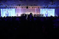 SAO PAULO, SP, 13.01.2014 - COUROMODA -Abertura da feira Couromoda, evento que marca o início da mais importante feira de calçados e acessórios de moda do Brasil e da América Latina no Pavilhao de exposiçoes Anhembi na regiao norte da cidade de Sao Paulo. (Foto: Vanessa Carvalho/ Brazil Photo Press).